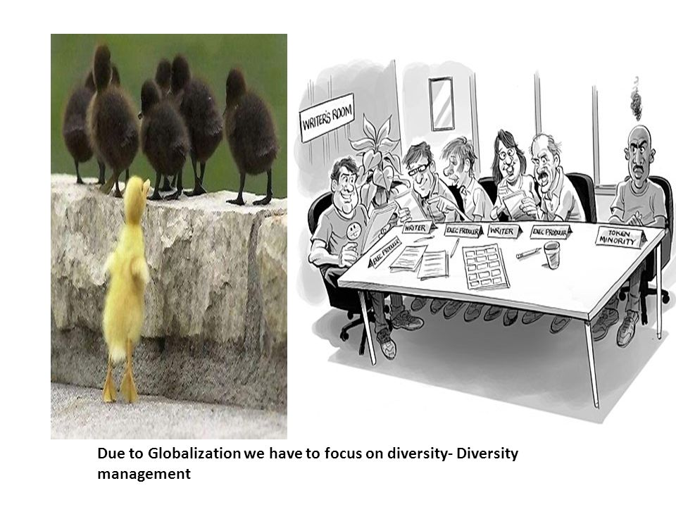 Due to Globalization we have to focus on diversity- Diversity management