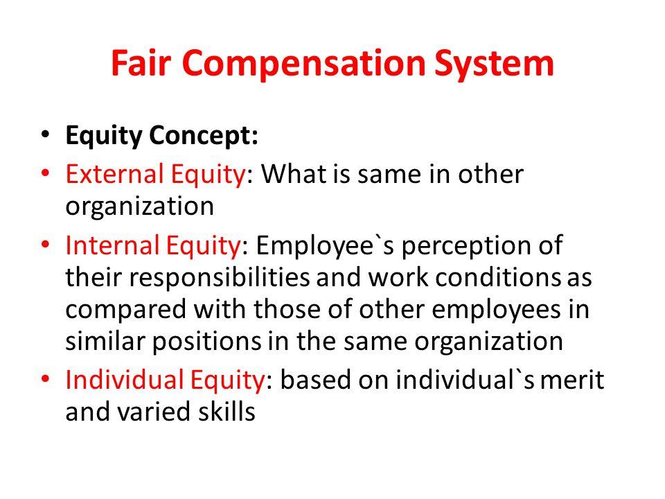 Fair Compensation System
