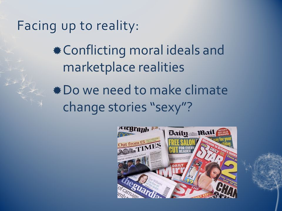 Facing up to reality:Conflicting moral ideals and marketplace realities.
