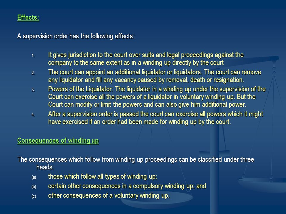 Effects: A supervision order has the following effects:
