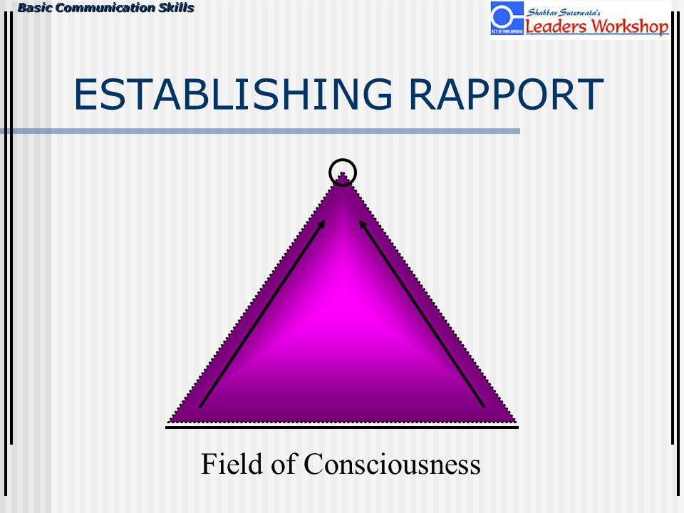 ESTABLISHING RAPPORT Field of Consciousness