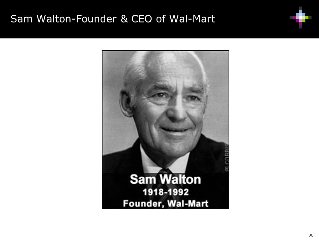 Sam Walton-Founder & CEO of Wal-Mart