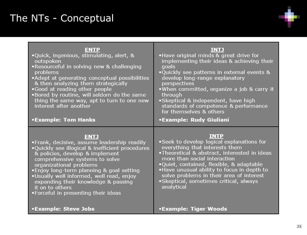 The NTs - Conceptual ENTP