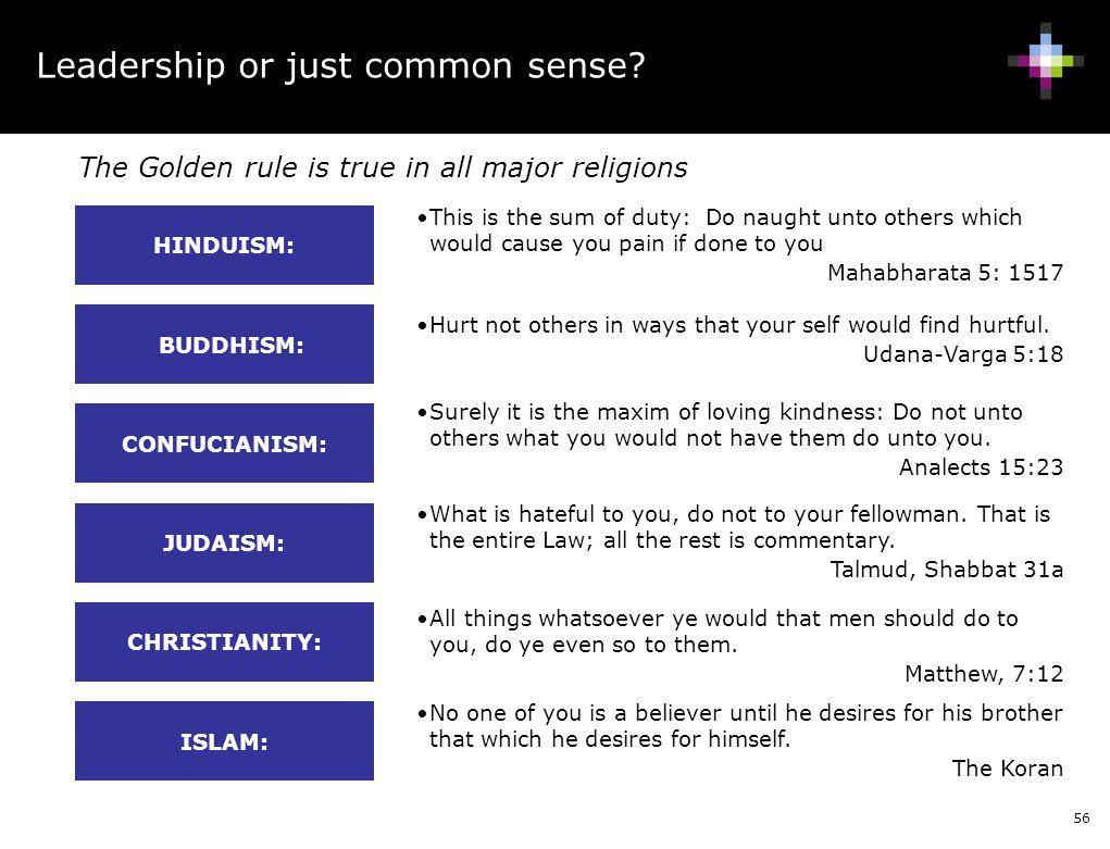 Leadership or just common sense