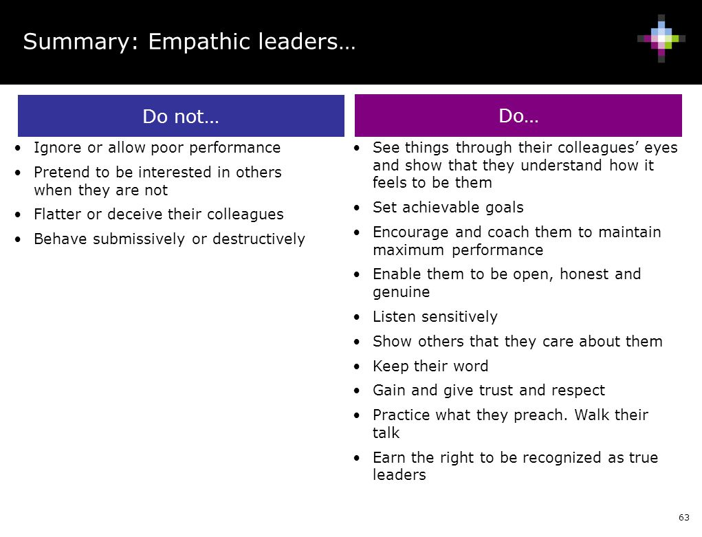 Summary: Empathic leaders…