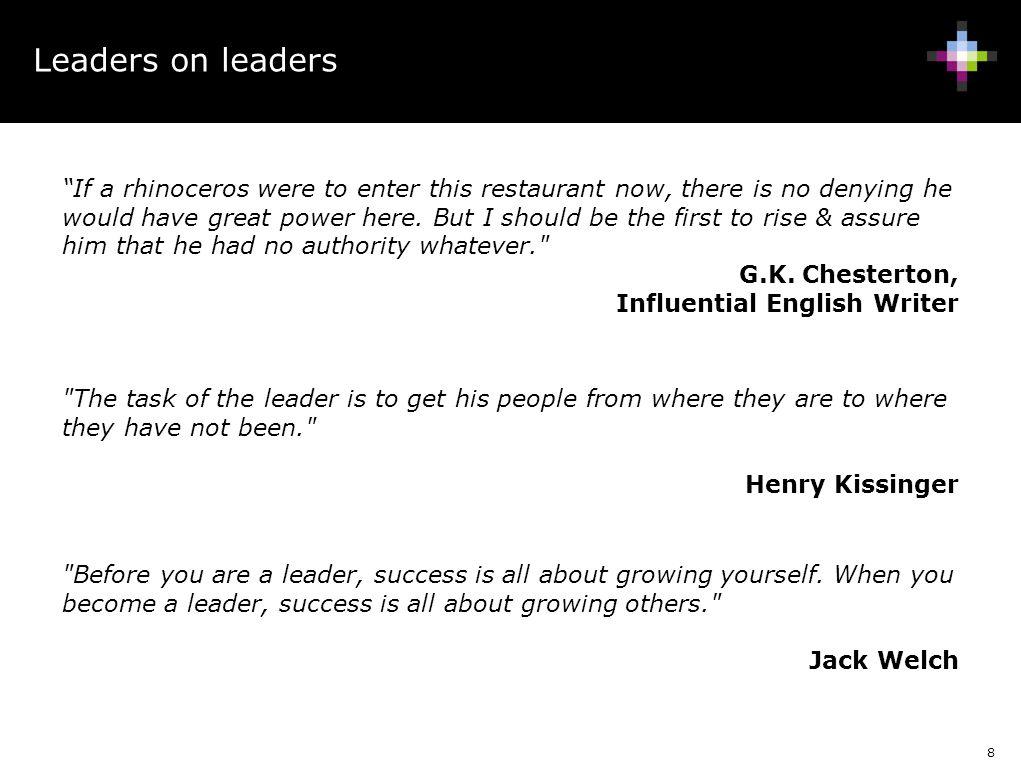 Leaders on leaders