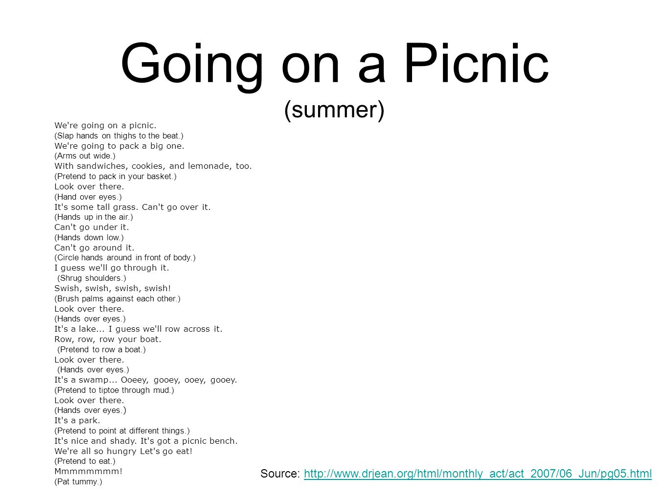 Going on a Picnic (summer)