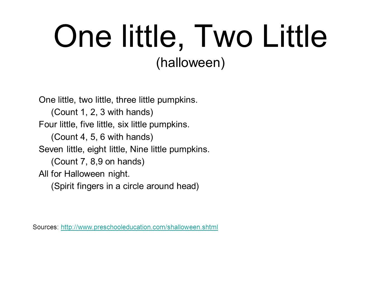 One little, Two Little (halloween)