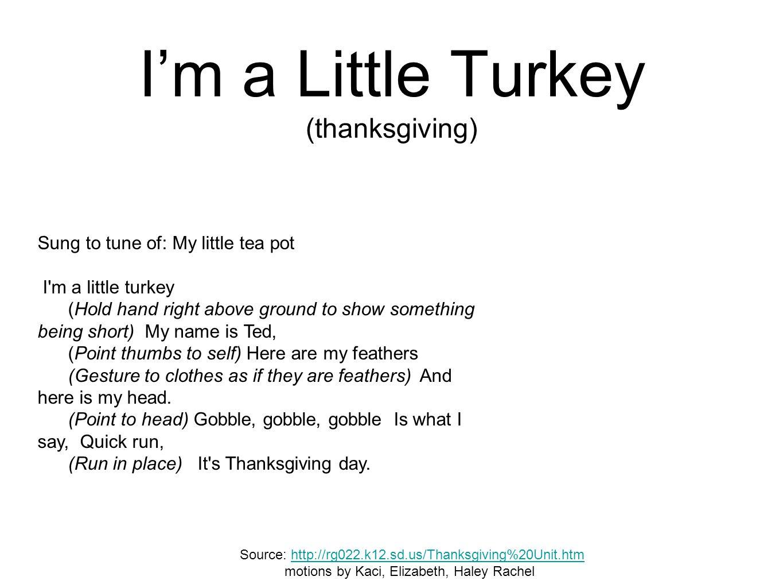 I'm a Little Turkey (thanksgiving)