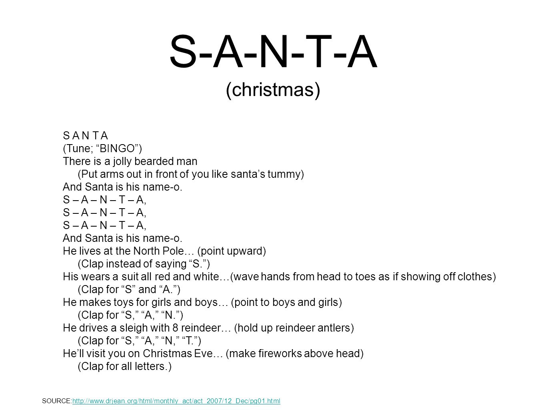 S-A-N-T-A (christmas)