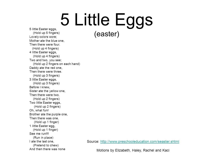 5 Little Eggs (easter)