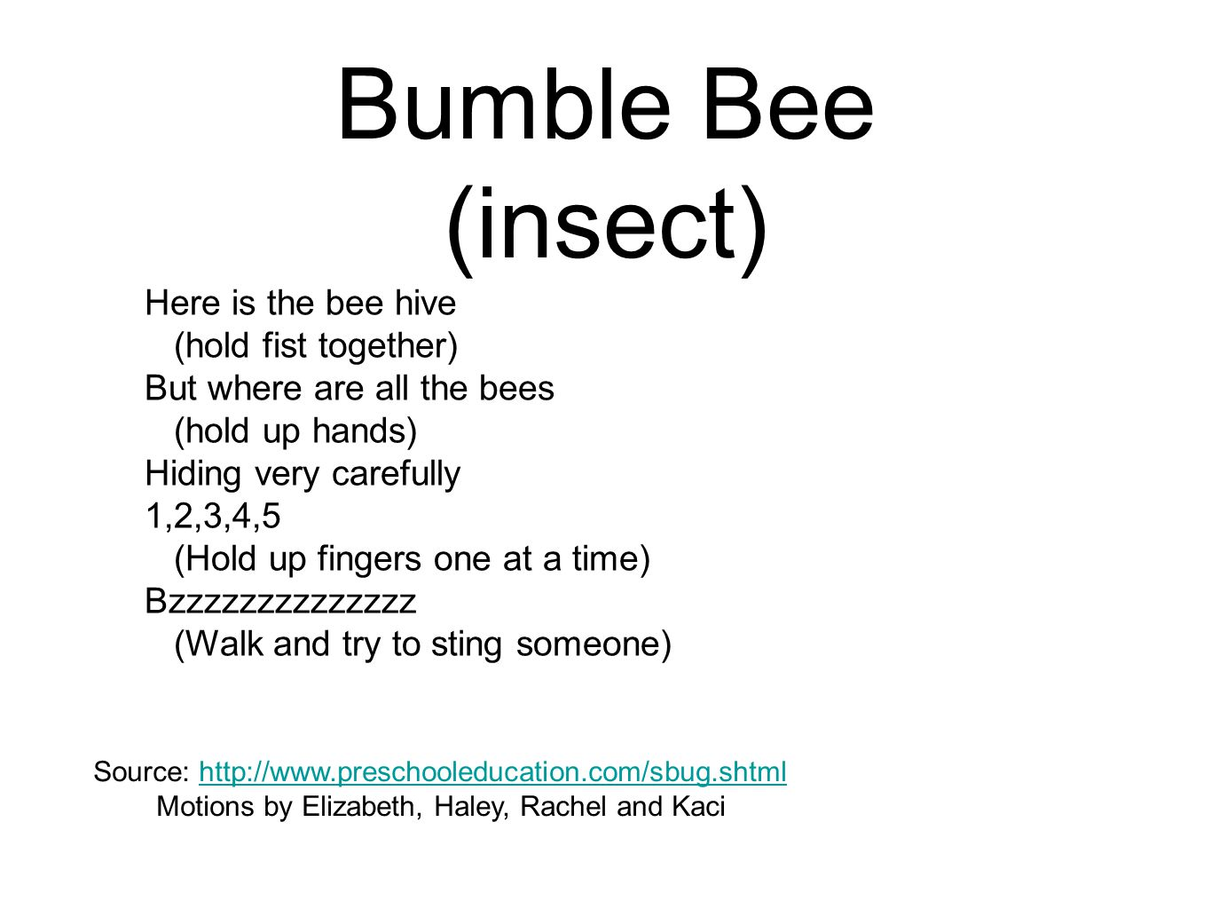 Bumble Bee (insect)
