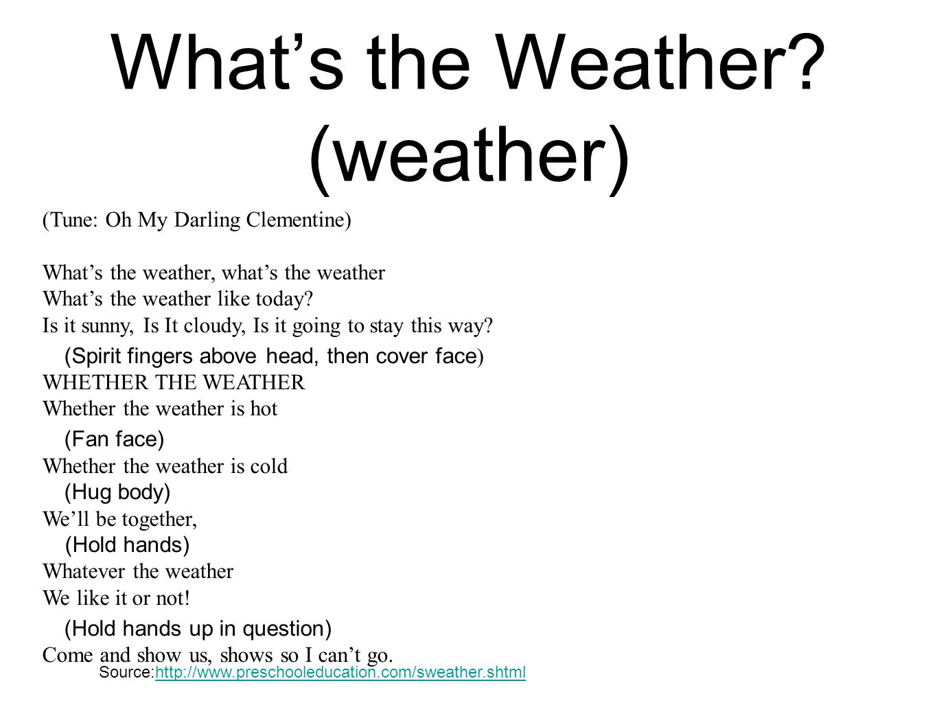 What's the Weather (weather)