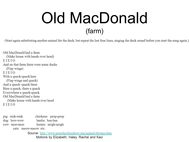 Old MacDonald (farm)