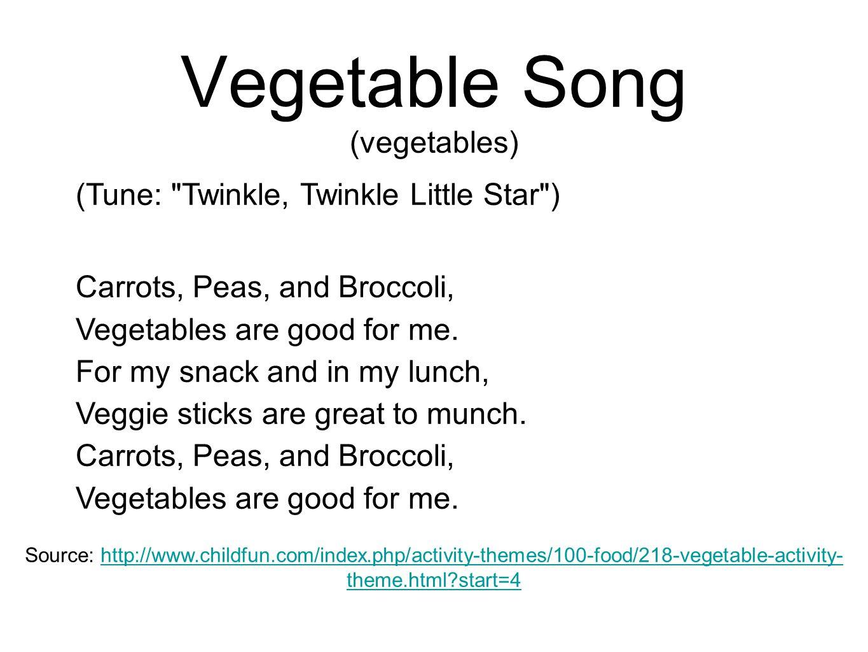Vegetable Song (vegetables)
