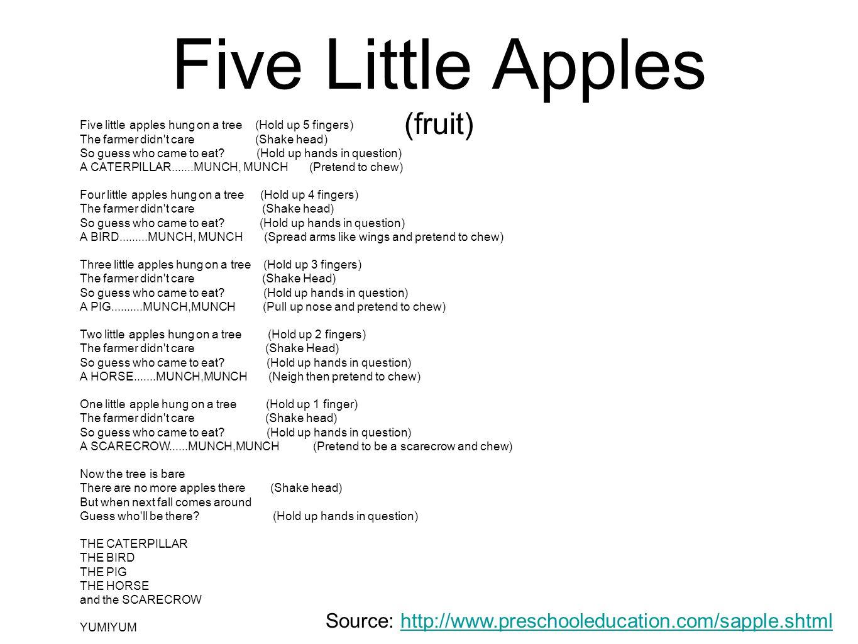 Five Little Apples (fruit)