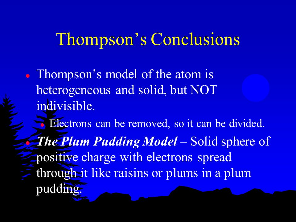 Thompson's Conclusions