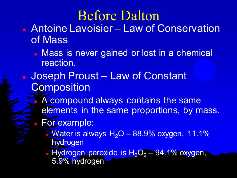Before Dalton Antoine Lavoisier – Law of Conservation of Mass