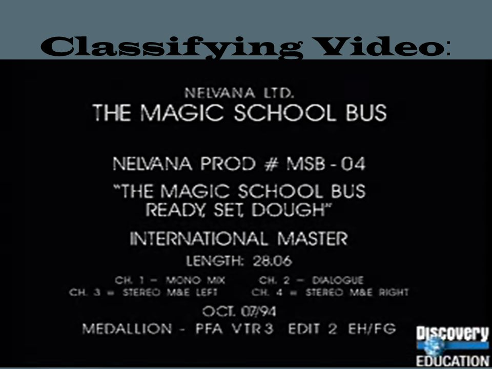 Classifying Video: