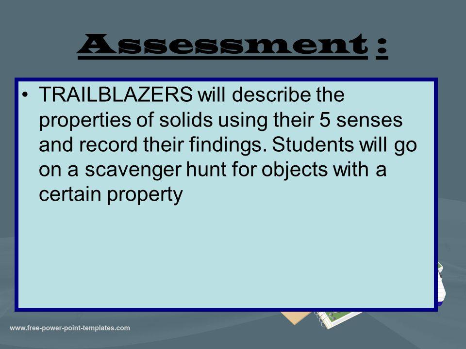 Assessment :