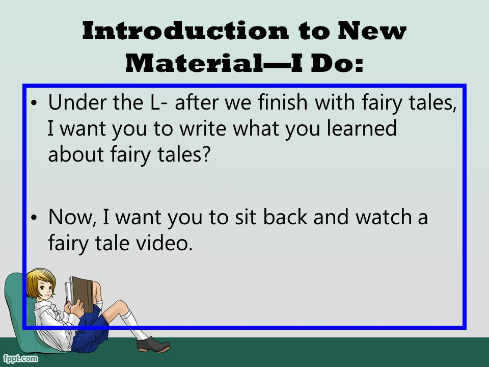 Introduction to New Material—I Do: