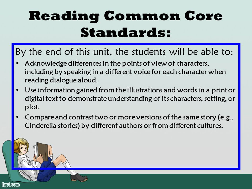 Reading Common Core Standards: