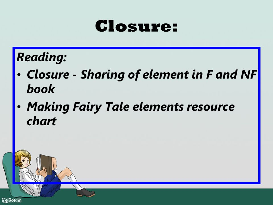 Closure: Reading: Closure - Sharing of element in F and NF book