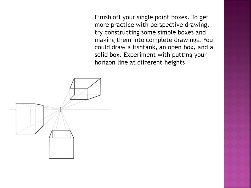 Finish off your single point boxes