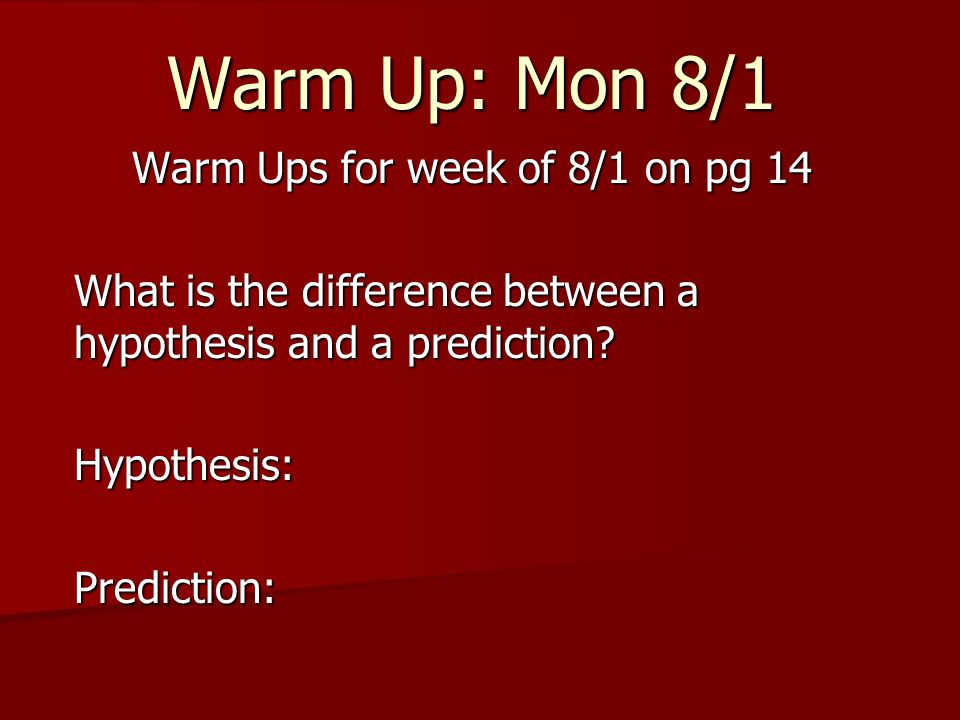 Warm Ups for week of 8/1 on pg 14