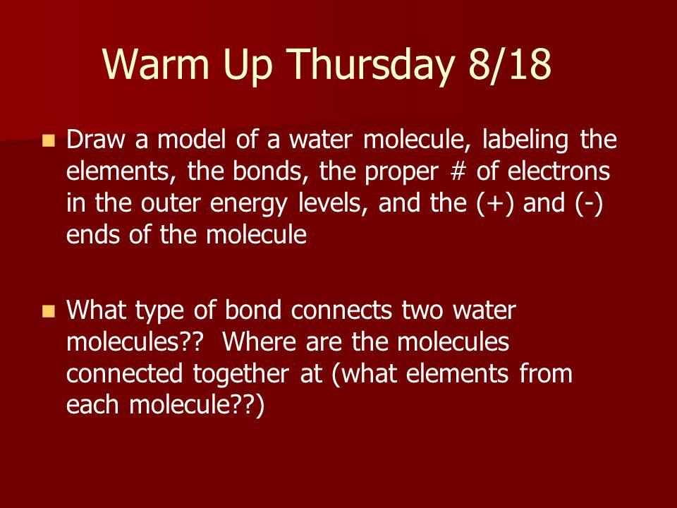 Warm Up Thursday 8/18