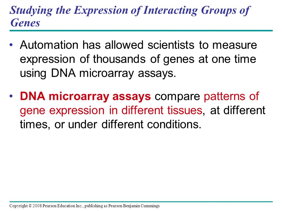 Studying the Expression of Interacting Groups of Genes