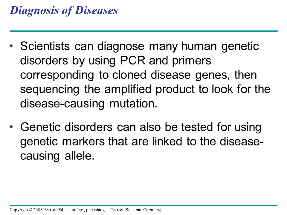 Diagnosis of Diseases