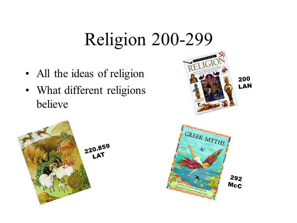 Religion 200-299 All the ideas of religion