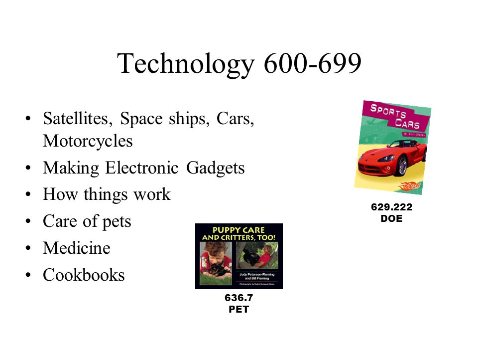 Technology 600-699 Satellites, Space ships, Cars, Motorcycles