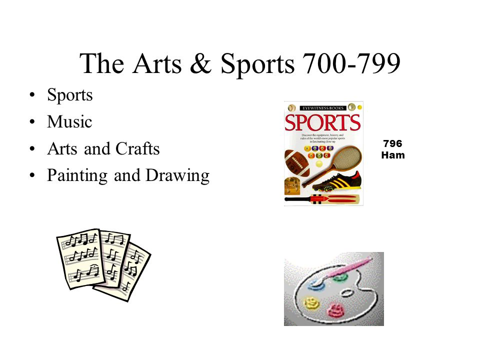 The Arts & Sports 700-799 Sports Music Arts and Crafts