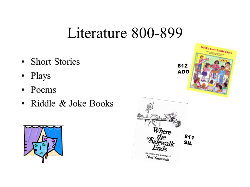 Literature Short Stories Plays Poems Riddle & Joke Books 812