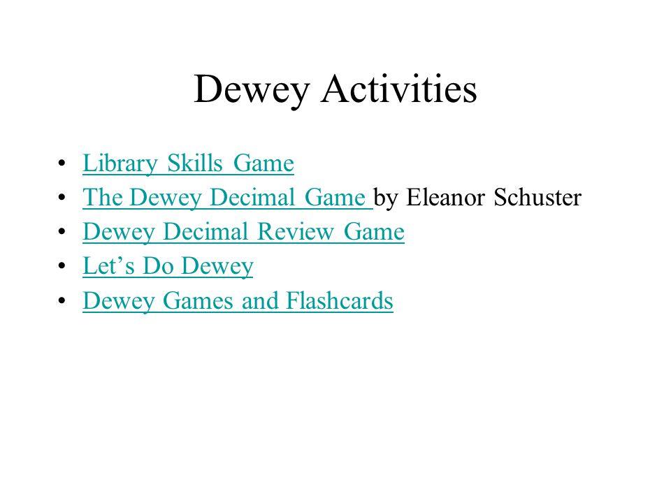 Dewey Activities Library Skills Game