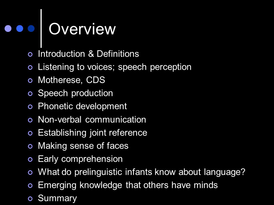 Overview Introduction & Definitions