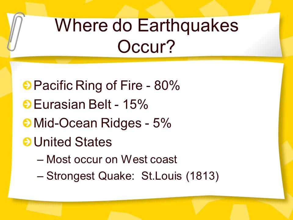 Where do Earthquakes Occur