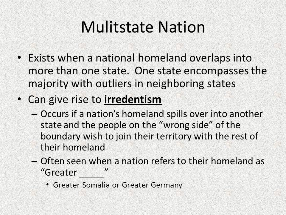 Mulitstate Nation
