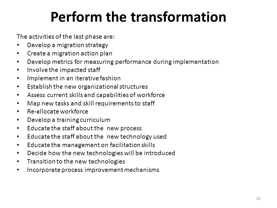 Perform the transformation