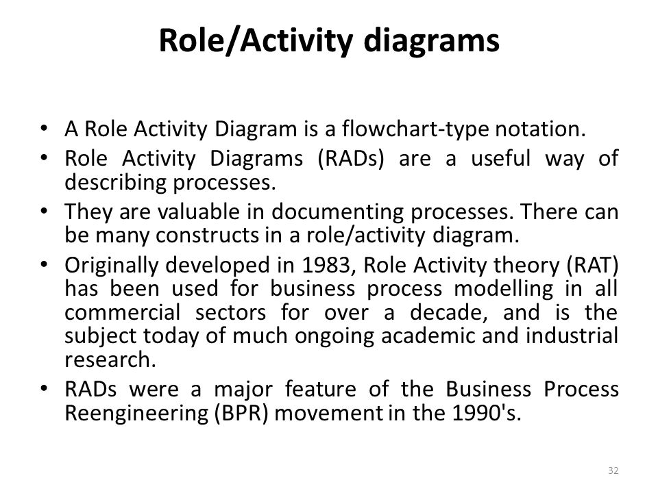 Role/Activity diagrams