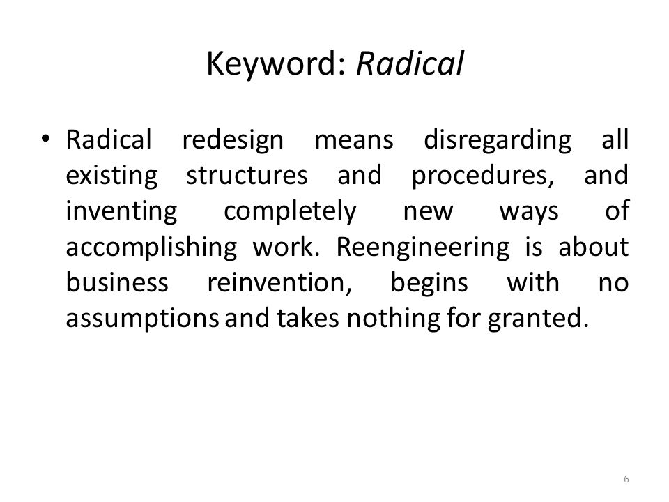 Keyword: Radical