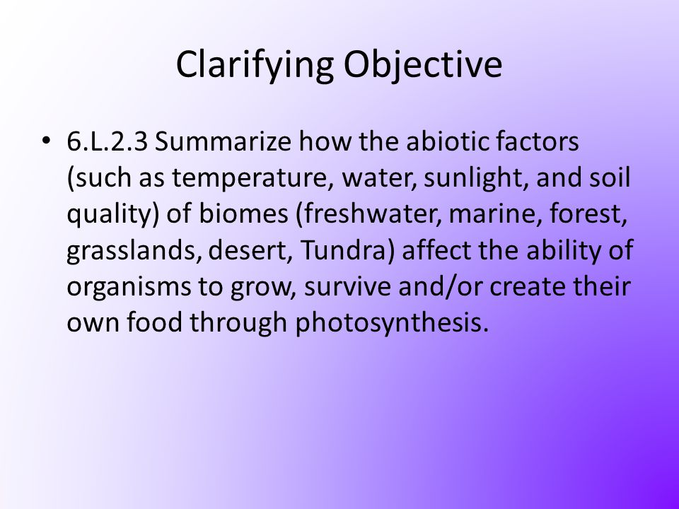 Clarifying Objective