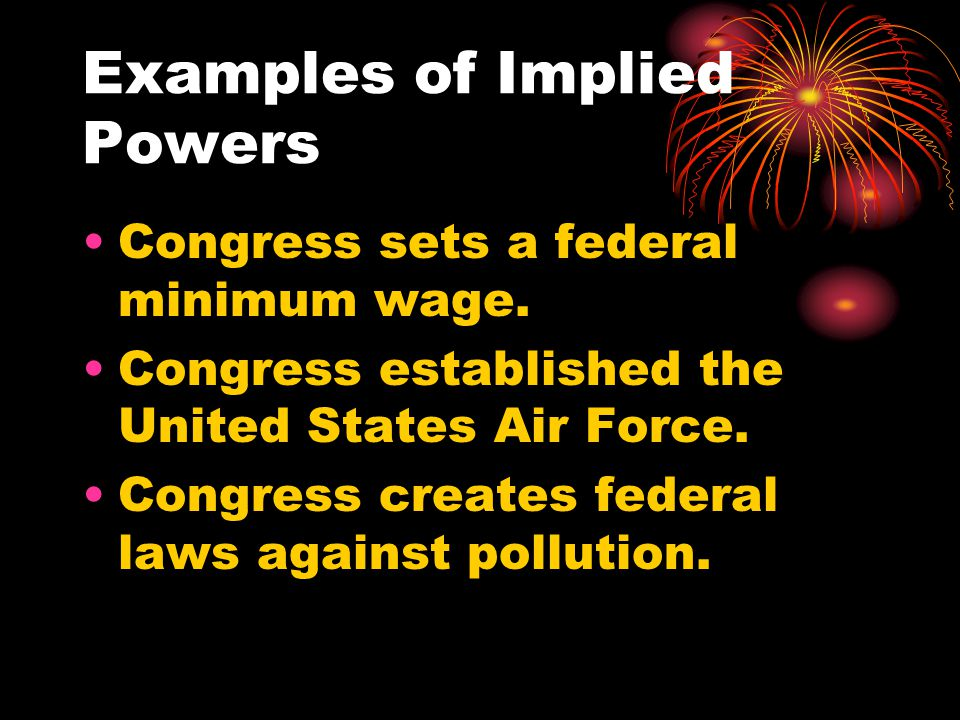 Examples of Implied Powers