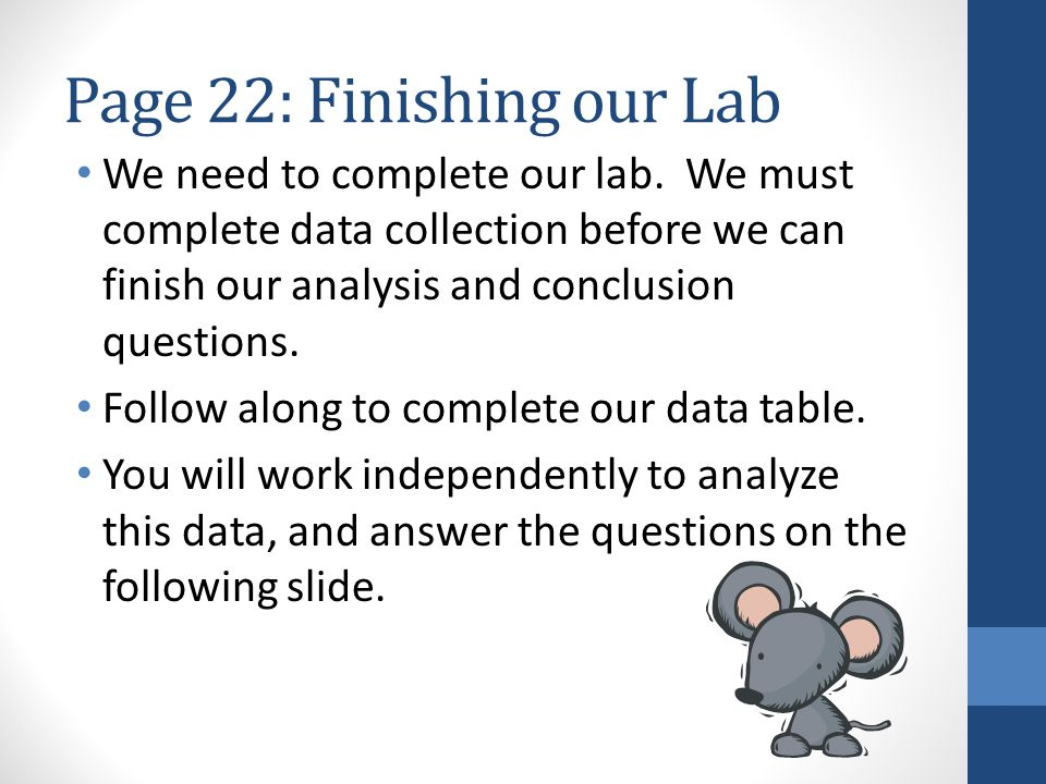 Page 22: Finishing our Lab