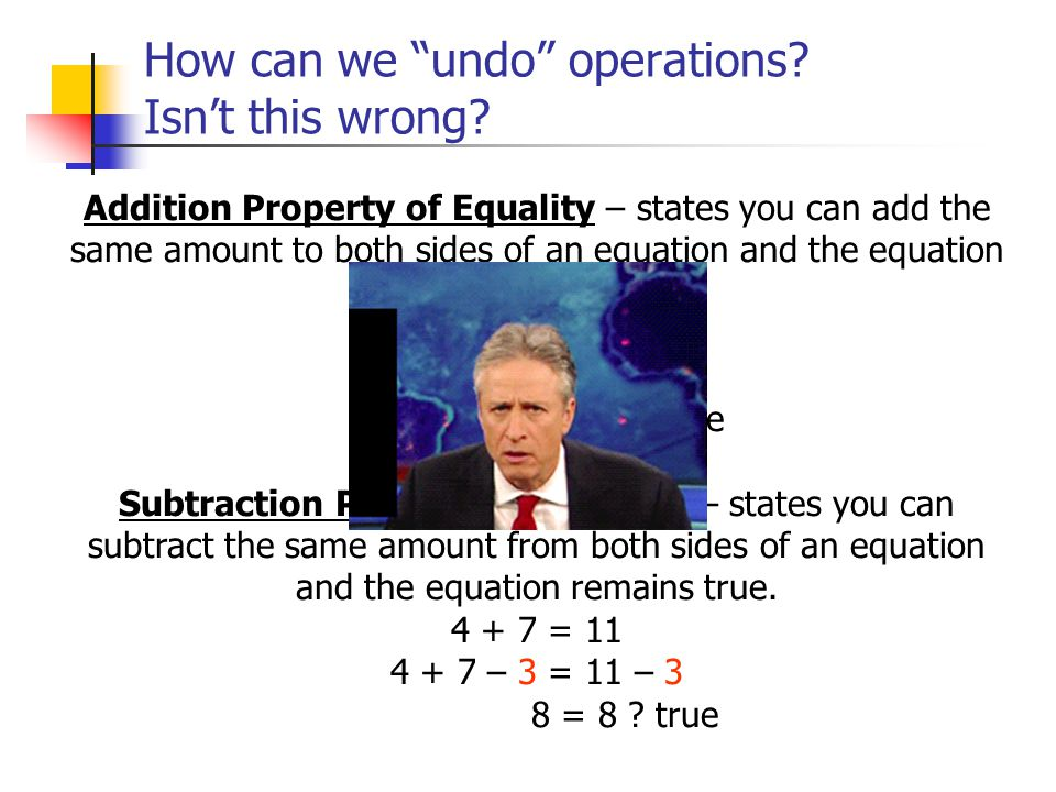 How can we undo operations Isn't this wrong