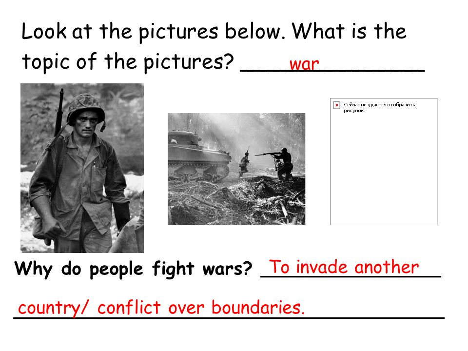 Look at the pictures below. What is the topic of the pictures