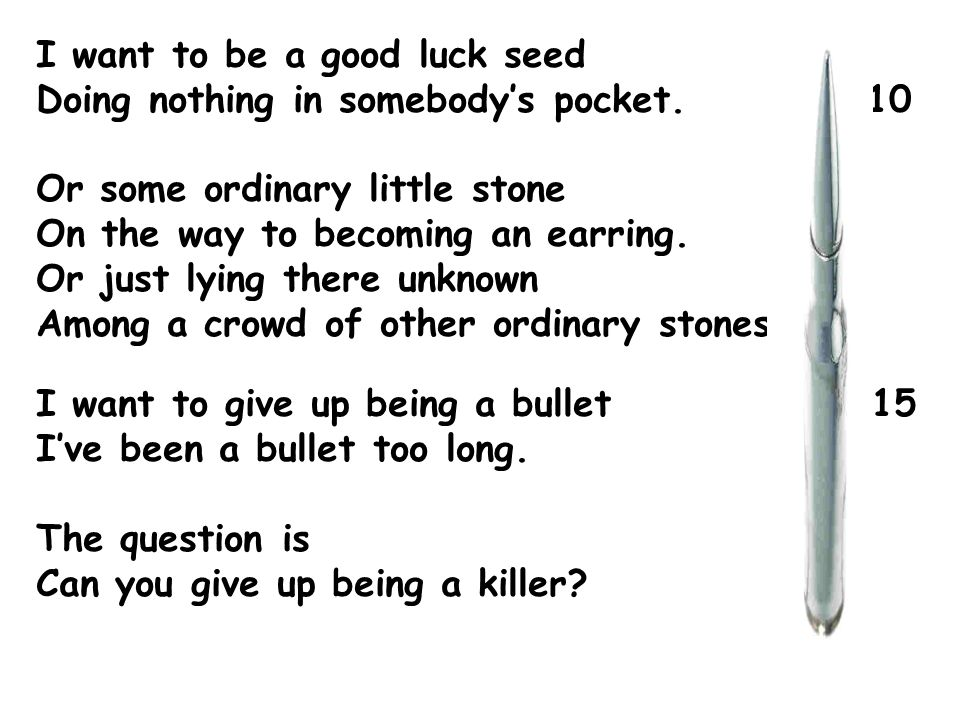 I want to be a good luck seed