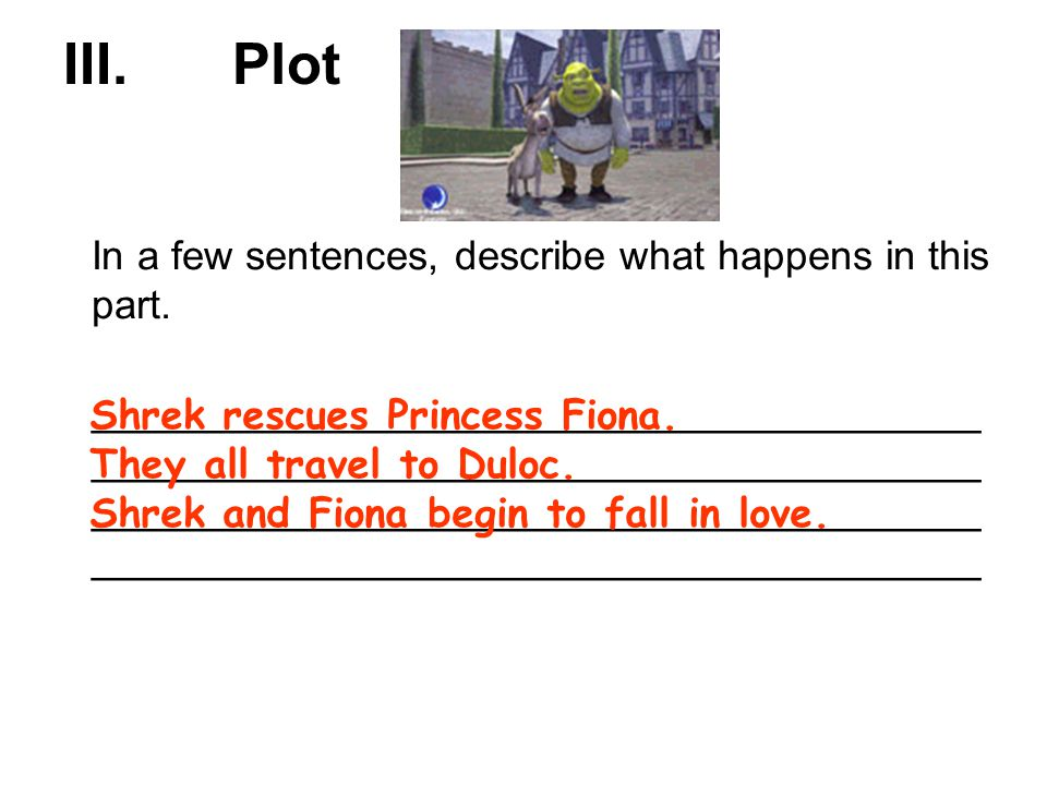 how to put plot in a sentence